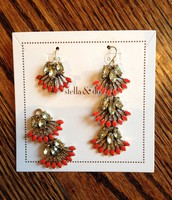 Coral Cay earrings- Originally $49-- SALE $20