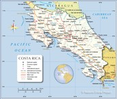 Una mapa de Costa Rica