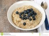 Oatmeal w/ blueberries