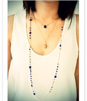 Millie necklace (long blue)