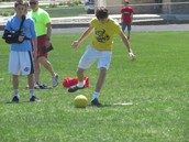 Kickball games were popular during House Olympics