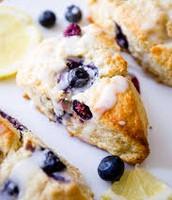 Blueberry and Lemon Scone