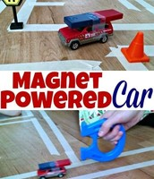 Magnet powered car