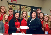 Leadership Students donating money to Donald T. Shields Elementary to help recover from recent tornados