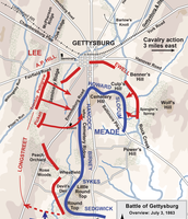 The Battle Of Gettysburg map Day 3