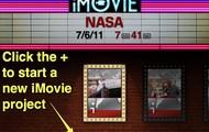 iMovie App Home Page