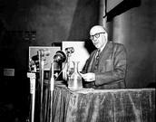 W.E.B DuBois at a Pan-African congress