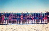 Soaking up the sun G Phi style!