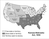 Kansas-Nebraska Act Map