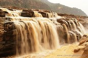 one of many waterfalls in the yellow river