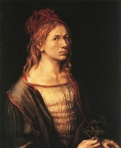 """I, Albrecht Durer of Nuremburg painted myself thus with undying colors at the age of twenty-eight years."""