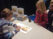 Lori Alexander signs a book for a budding writer!