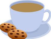 el chocolate caliente y las galletas