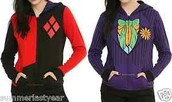 DC COMICS JOKER & HARLEY QUINN REVERSIBLE GIRLS COSTUME HOODIE