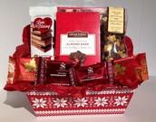 Snowflake Treats Gift Basket