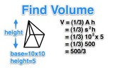 Volume of a pyrimid