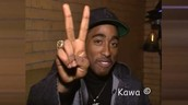 Besides all of the negatives you hear, Tupac is alo known for his outgoing personality.