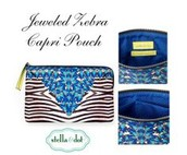 Capri Pouch - Jeweled Zebra