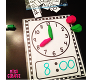 Play-doh as clock hands