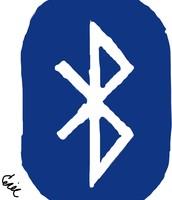 A BlueTooth logo.