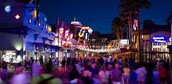 Downtown Disney at night.