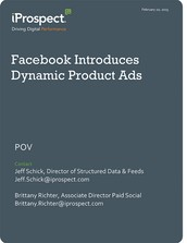 Facebook Introduces Dynamic Product Ads (POV)