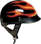 Flaming helmet