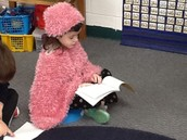Treating others as we would like to be treated ... reading our class book.