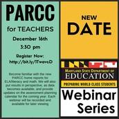 PARCC for Teachers Webinar