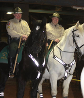 Mounted Patrol working hard at the Rodeo