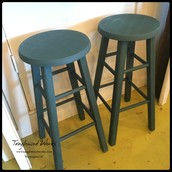 Two Blue Stools (Pair) - $95