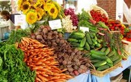 Piles of fresh, local, and quality produce.