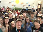 The Paleontologists from Period 6 are thrilled with their hats!