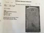 His gravestone