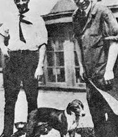 Dr. Banting and Best with Diabetic Dog