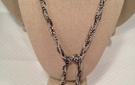 ADRIENNE MIXED CHAIN SILVER NECKLACE