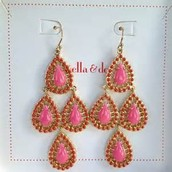 Seychelle earrings - pink (Med weight) - SOLD