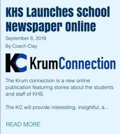 "Check Out our Student Produced Newsletter ""Krum Connection"""