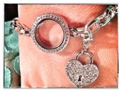 Link Locket with Dangle
