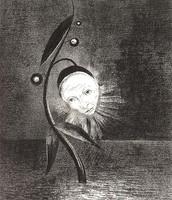 Fiore di palude e testa triste, Redon, 1885