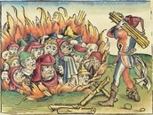 Jews being burned alive.