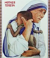 Mother Teresa Helping the Poor