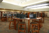 State-of-the-art library with an inviting and comfortable environment