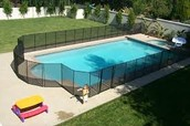 Fencing around pools