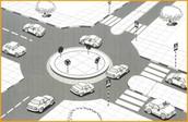 משימה: קראו מידע וסכמו - מה התועלת במעגל תנועה בצומת ?