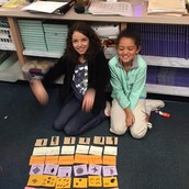 Sorting Fractions: Very Organized, girls!