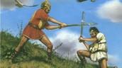 Romulus killing Remus