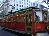 Main Sreet and Riverfront Trolley