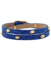 Hudson Leather Wrap - Blue