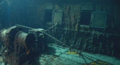 A picture of Titanic wreckage